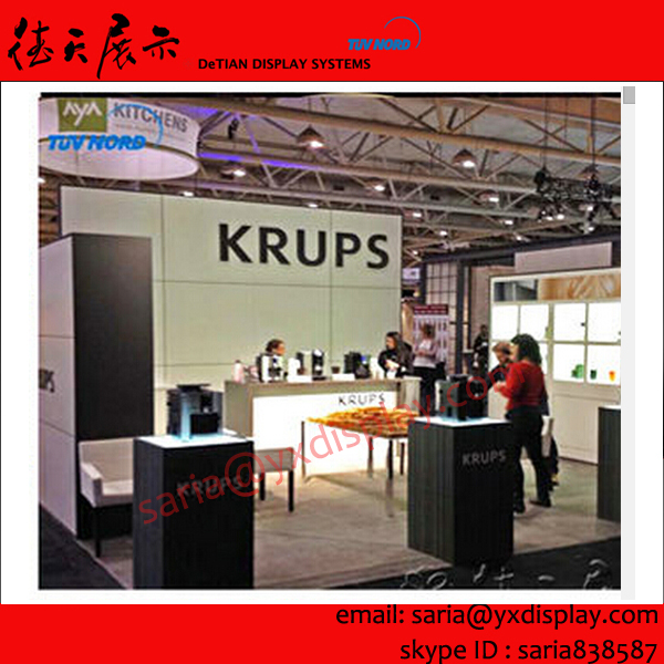 hire wooden trade show expo booths, booth design and construction, design booth stands exhibition system