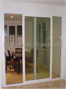 Cheap house doors for sale pvc Sliding Door with plastic grids for doors