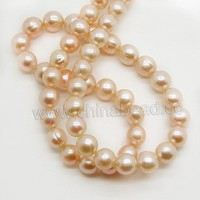 China supplier freshwater pearl, natural pearl colors pink pearl beads for necklace making