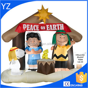 Peanuts Nativity Christmas Inflatable