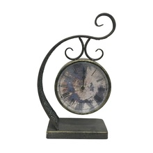 Customized Design Metal Antique Bronze Table Clock