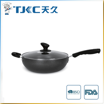 Non-stick Wok with Glass Lid and Strong Handle
