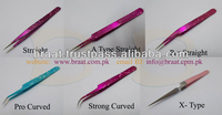 Different type of eyelash extension tweezers x tweezers curved tweezers angle tweezers