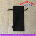 Factory price black suede packing bags drawstring watch pouch