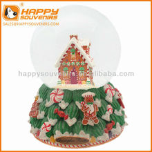 Custom home decoration craft 100mm chirstmas house snow globe
