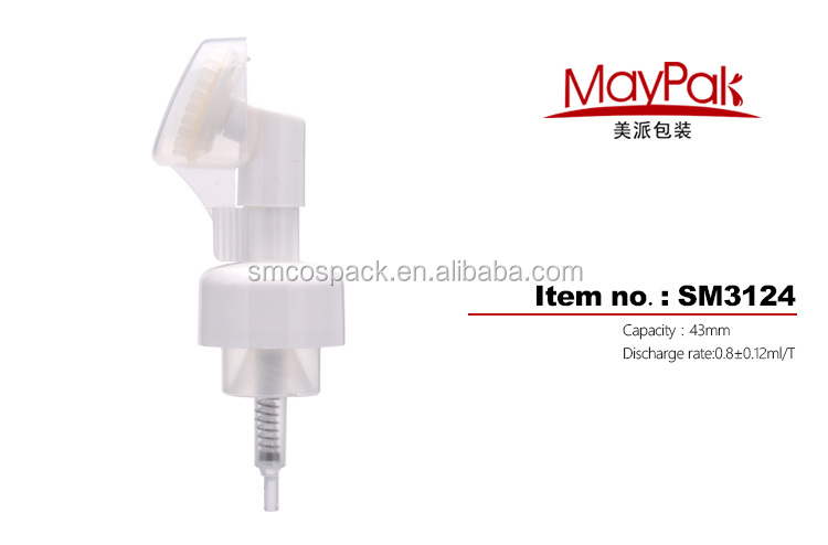Plastic PP 43mm soap foam pump for facial cleaning