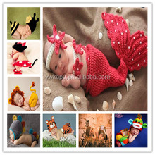 Newborn Baby Knit Crochet Suit Newborn Photography Props Baby Crochet Hats