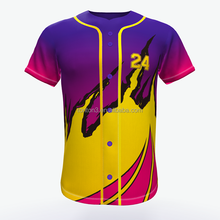 Custom sublimated printing baseball jersey