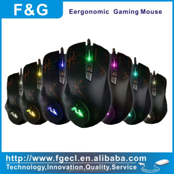 2017 New Model Computer Mouse 7D macro Optical Gaming Mouse with adjustable DPI Switch Function