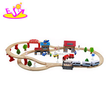 2016 new design kids wooden electric toy train sets W04C048