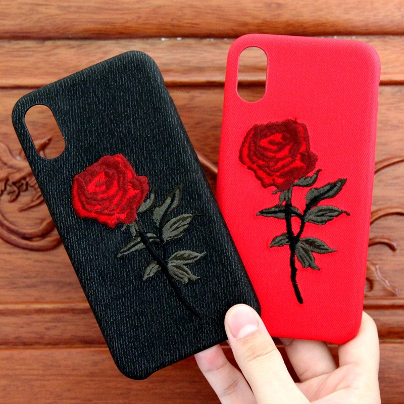 Alibaba Express Cell Housing Accesories 4.5 Inch Bumper Black Case Cover Embroidery Phone Case For Iphone 6S