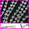5mm size 24ss crystal rhinestone cup chain super closed with high quality de strass chatons