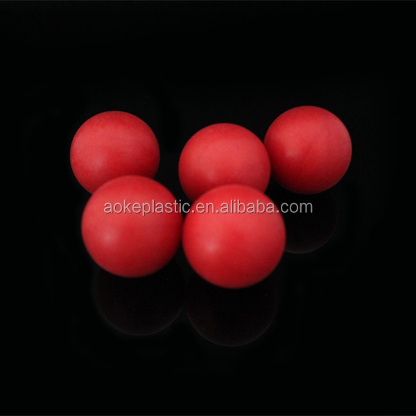 30mm PP red clear plastic balls for roll on ball