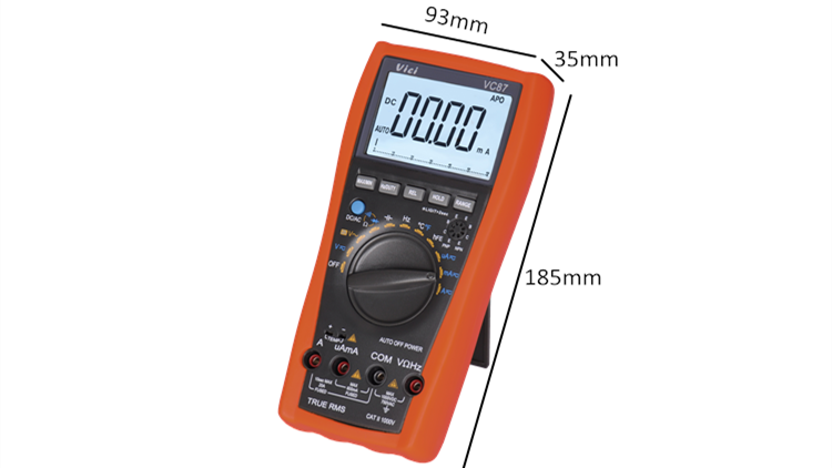 VC87 6000 digits digital TRMS multimeter with analog bar display