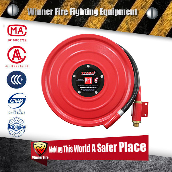 Fire security products rubber covered fire hose with aluminum coupling