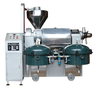 Screw type oil machine processing palm oil with oil filter
