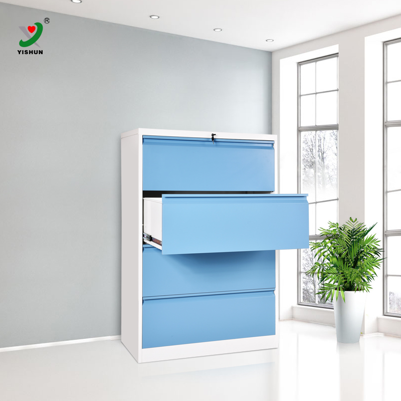 Office steel corner colroful document drawers cabinet/lateral drawer file cabinets