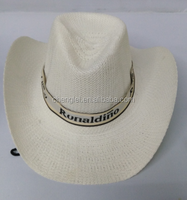 wholesale cheap Knitted straw cowboy hat for men