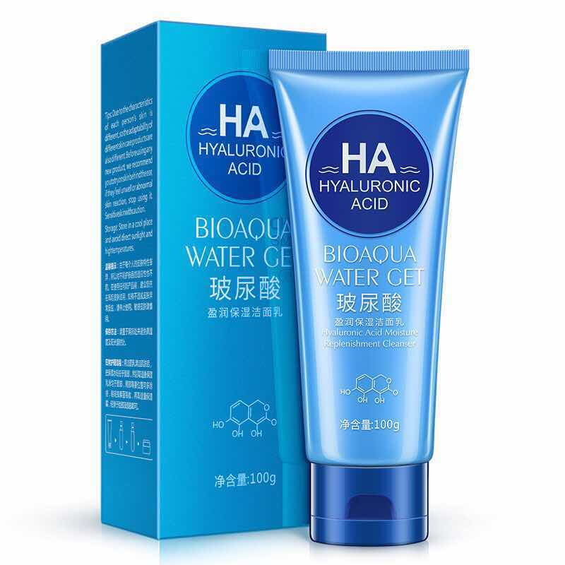 OEM/ODM Hyaluronic acid moisture Replenishment beauty whitening facial cleanser