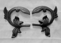 ornamental iron parts,cast iron gate ornaments