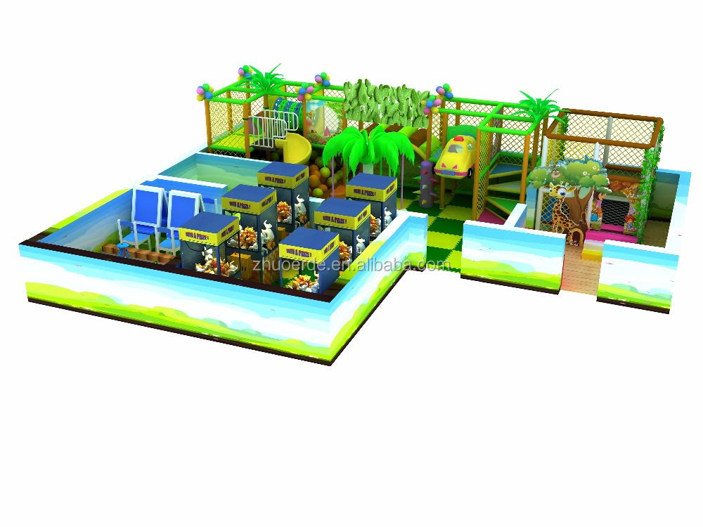 2016 children cartoon cute slide indoor playground equipment manufacturer