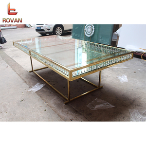 Wedding Mirror Glass Stainless Steel Dining Table exclusive concepts mirror glass wedding rent dining table