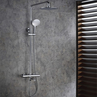 Surface Mounted Chrome Brass Thermostatic Shower Mixer Faucet TMS005