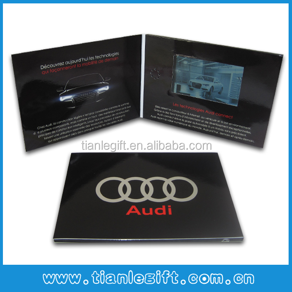 Advanced Custom 7inch LCD Video Brochure Card
