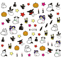 Nail Art DIY Design Hot Sale Halloween Style Water Mark Sticker Nail Accessories