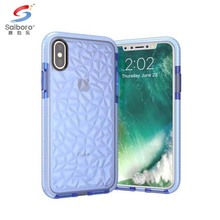 Shockproof creative diamond-shaped tpu pc phone cover case for iphone 8 back cover