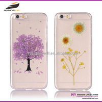 [Somostel] Bling Diamond 3D Clear Case For iPhone 6 6s Cover Case Real Flower Design