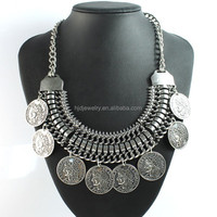 Vintage Coin Statement Necklace, Elegant Jewelry Accessory