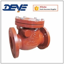 ANSI Rubber Seat Cast Iron Non Return Swing Check Valve With Flanged Ends
