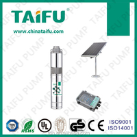 TAIFU 3TSS battery operated 316 stainless steel brushless motor low price 3'' solar water fountain pump with light