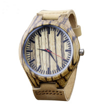 Wholesale price custom logo <strong>bamboo</strong> or wood watch quartz movt watch
