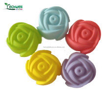 CM-027 colorful rose shape cake baking cup silicone cupcake