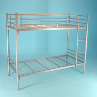 Hot sale cheap single adult army metal bunk bed used for school