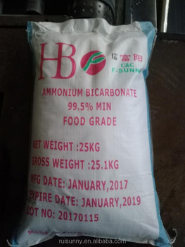 Ammonium Bicarbonate Food Grade 99.5%