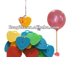 2012 hot selling heart shape 4 colors avialble foil balloon weights