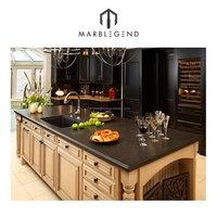 Black color natural stone granite kitchen countertop price