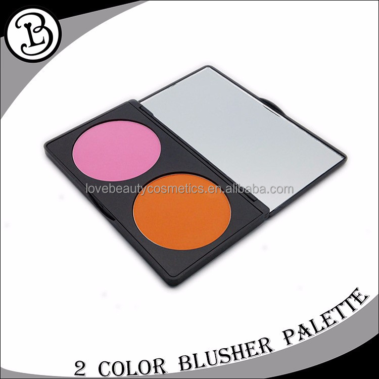 China Manufacturer Cosmetics Cheap 2 color blush powder