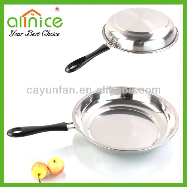 stainless steel frying pan/flat pan/non-stick fry pan