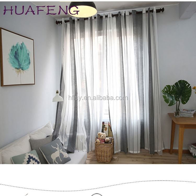 Huafeng Bedroom Luxury Classic Sheer Curtains