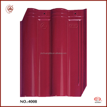 Best Selling High Quality Waterproof rose red clay roof tile