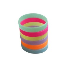 Promotional gift non-texic silicone glow sport bracelet