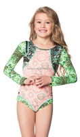 cute little girls long sleeves one piece sexy swimwear for kids girls