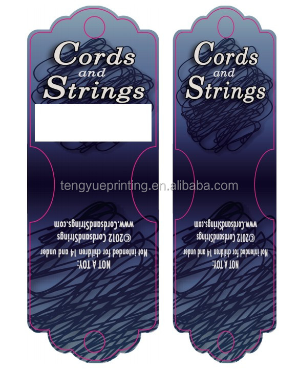 high quality cords and strings used paper card