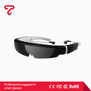 2017 New Item 98 inch 3D HD mobile theater video glasses virtual reality AR blue film video