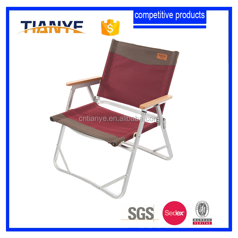 portable outdoor camping metal beach chair cell phone holder for Japan