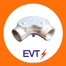 BS4568 galvanized malleable iron inspection elbow & electrical conduit pipe fitting